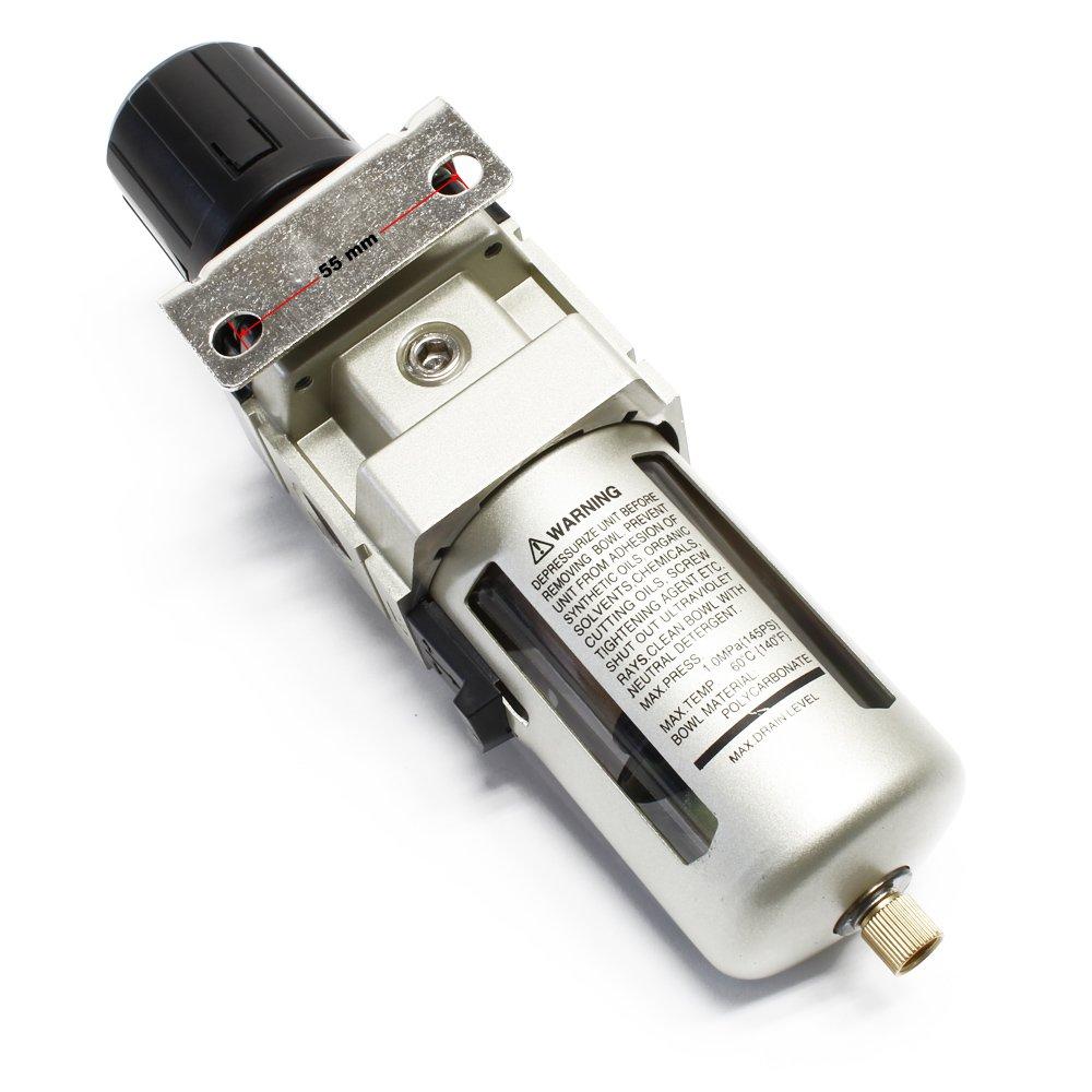 1//2 IG Druckregler Druckluftregler Druckminderer mit Filter und Manometer 20,67 mm