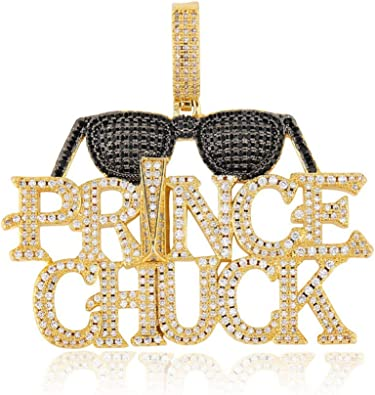 Moca Jewelry Iced Out Emoji Smiley Sunglasses Pendant Necklace 18K Gold Plated Bling CZ Simulated Diamond Hip Hop Rapper Chain Necklace for Men Women