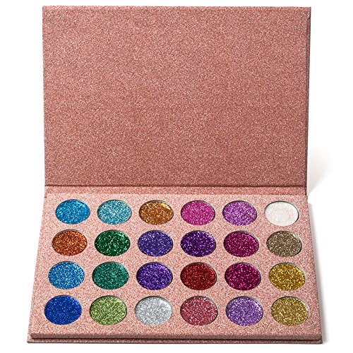 ICYCHEER 24 Colors Pressed Glitters Eyeshadow Diamond Rainbo