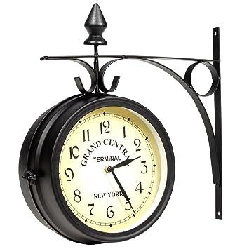 orologio da parete su due lati per interni o esterni: amazon.it ... - Orologio Da Parete Per Cucina