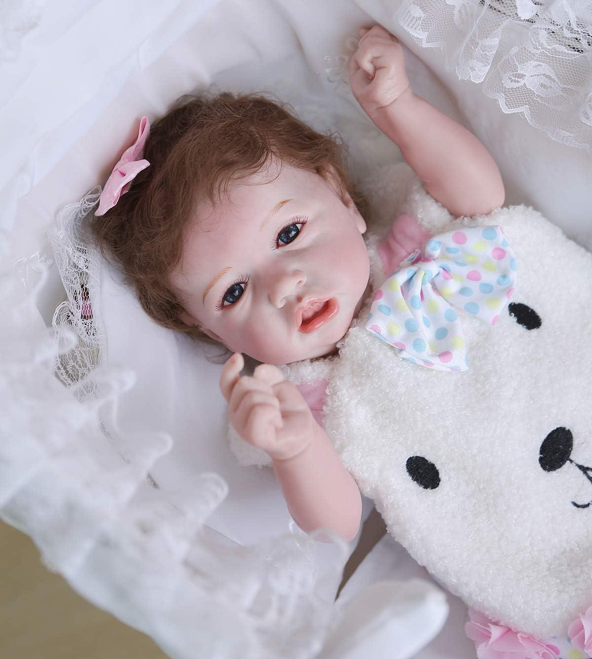 Anatomically Correct Reborn Baby Dolls Silicone Vinyl Full Body Girls Blue Eyes