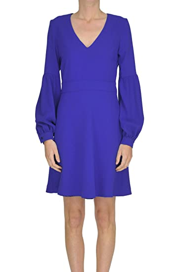 f3779c3409 Pinko EZGL016138 Women's Blue Polyester Dress: Amazon.co.uk: Clothing