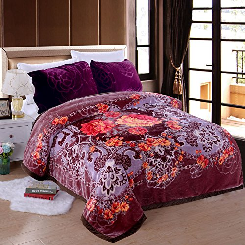 (JML Heavy Warm Blanket, Plush Blankets King Size 85
