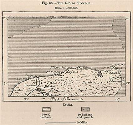 Amazon.com: 'The Rio of Yucatan'. North Yucatan. Merida Cancun ... on map of vegas beach, map of italy, map of playa del carmen attractions, map of cancun, map of celestun, map of pacific lowlands, map of costa rica, map of hadramawt, map of isla mujeres, map of caribbean, map of patzcuaro, map of mexico, map of taxco, map of merida, map of quintana roo, map of riviera maya, map of belize, map of punta allen, map of mahahual, map of veracruz,