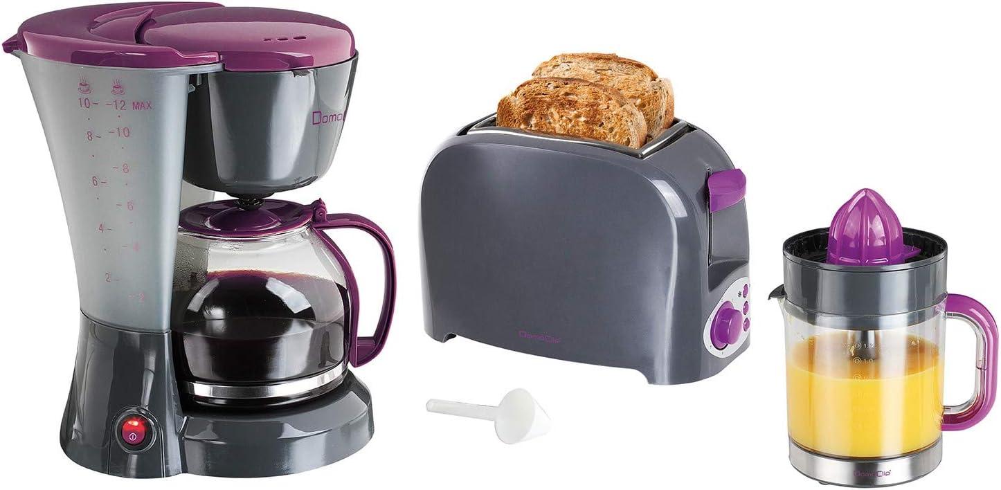 Tostadora 2 ranuras + cafetera 12 tazas + exprimidor 1.2L: Amazon ...