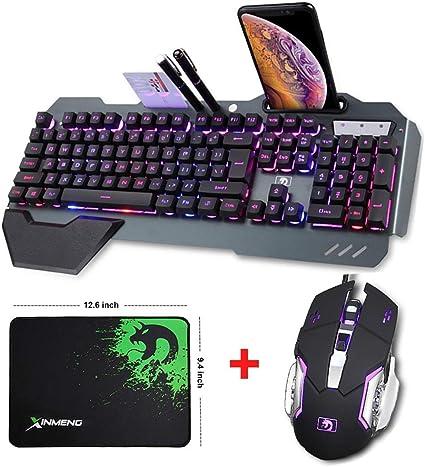 Combinación de ratón con teclado Wired Hybrid / RGB 16 Clases ...