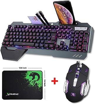 Elkeyko Combinación de ratón con Teclado Wired Hybrid/RGB 16 ...