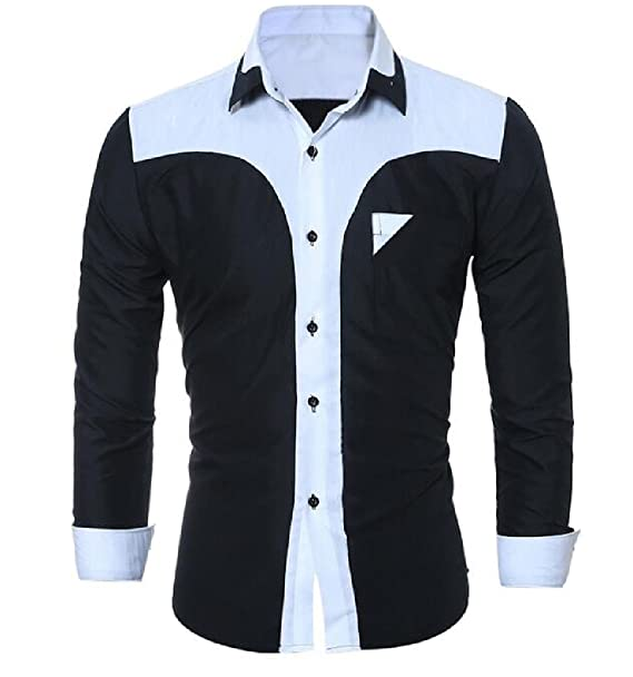 AngelSpace Mens Casual Dashiki V-Neck Long-Sleeve Pullover African Shirts Tops