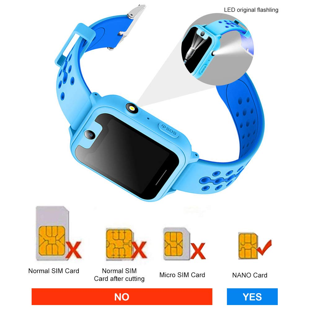 Amazon.com: Updated Kids Smart Watches with GPS Tracker Phone Call for Boys Girls Digital Wrist Watch, Sport Smart Watch, Touch Screen Cellphone with Camera ...