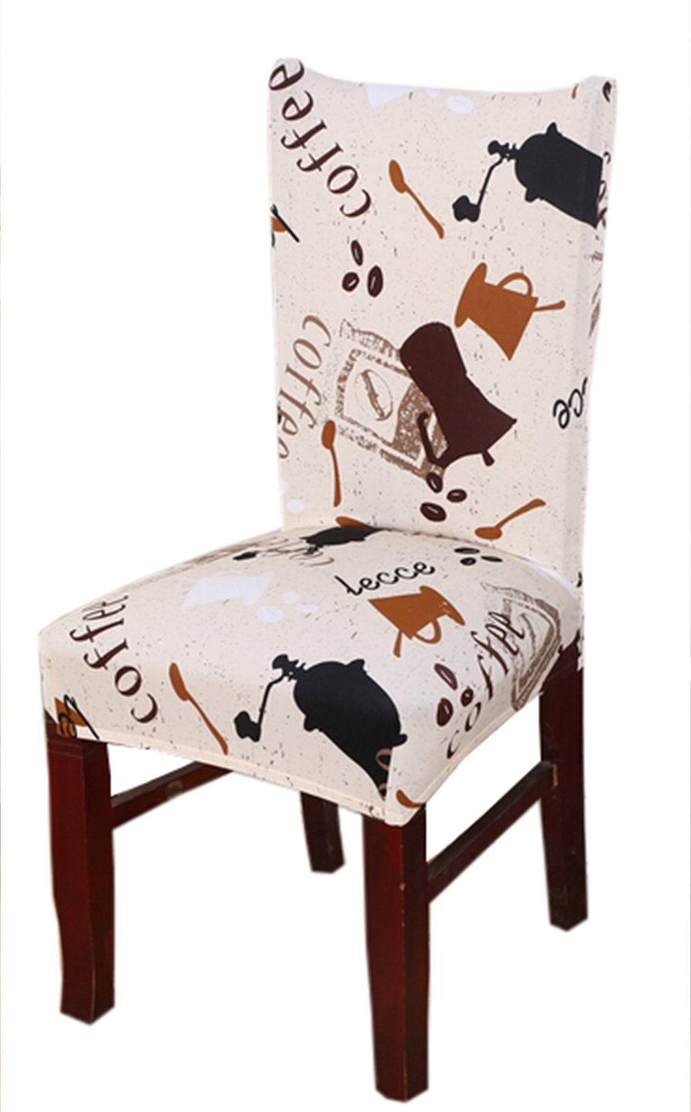 Stretch Removable Washable Short Dining Chair Cover Protector Seat Slipcover (1)