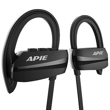 apie auriculares Bluetooth, auriculares inalámbricos Bluetooth 4.1 con Micrófono Deporte Auriculares estéreo, IPX7 resistente