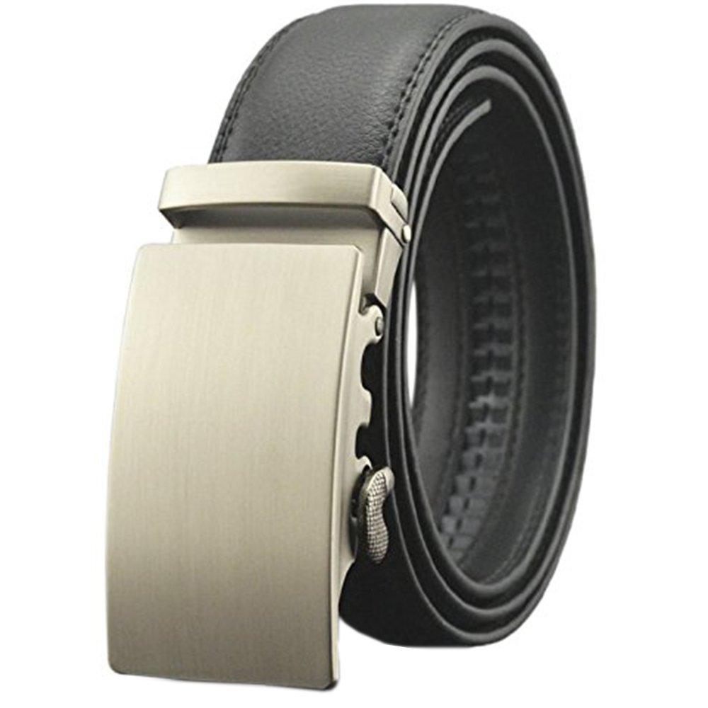 EMMA Hombre Cinturón de Cuero Negro con Automatica Marrón ec04f0963ce9