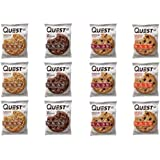 Quest Nutrition Protein Cookie Variety Pack (Choco Chip, Double Choco, Peanut Butter and Peanut Butter Choco Chip). 15…