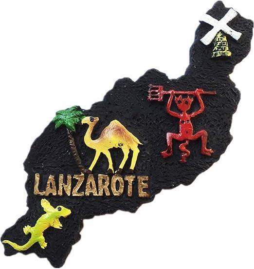 Lanzarote - Imán 3D para nevera con diseño de España para regalo ...