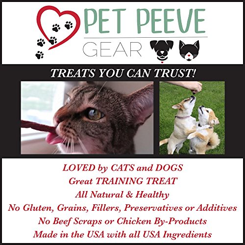 Best Dog Treats, All NATURAL Dog Jerky Treats Made in USA ONLY, 2 Premium Flavors in 1 bag, Chicken & Beef Strips, Healthy Teeth, Grain & Gluten Free, Great Diabetic Treat, Training, Dental Chews by Pet Peeve Gear (Image #6)