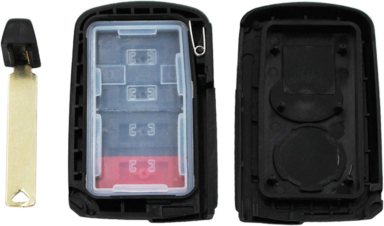 WFMJ for Toyota Avalon Camry Corolla RAV4 89904-06140 HYQ14FBA Keyless Entry 4 Buttons Remote Key Case Shell Fob