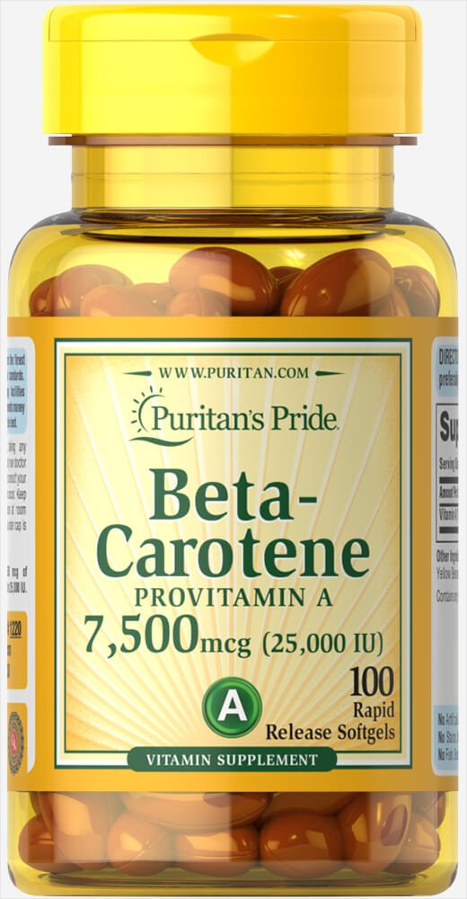 Beta carotene supplement tan