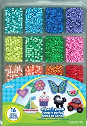 Perler Fused Bead Tray 4000/Pkg-Stripes \'n Pearls