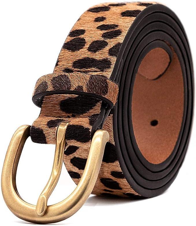 Amazon.com: LOKLIK - Cinturón de piel con estampado de ...