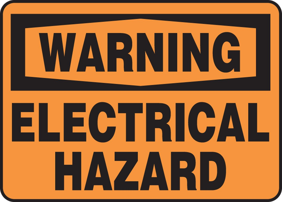 AccuformWarning Electrical Hazard Safety Sign 7 x 10 Inches Dura-Fiberglass MELC328XF