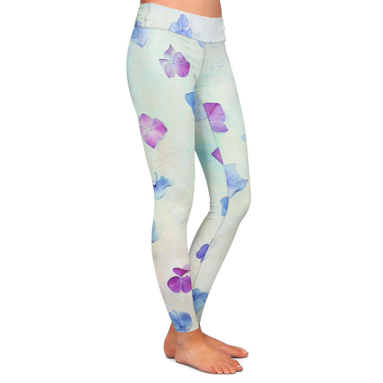 Athletic Yoga Leggings from DiaNoche Designs by Sylvia Cook Hydrangea Petals