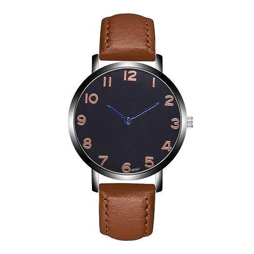 Kinlene Relojes baratos para hombres,Reloj de diseño de correa de cuarzo analógico de moda (C): Amazon.es: Relojes
