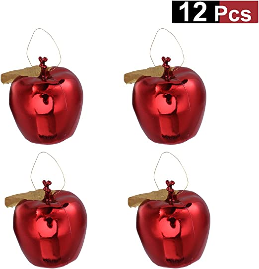 12pcs Glitter Key Craft Hanging Ornaments Festival Christmas Home Decor Supply