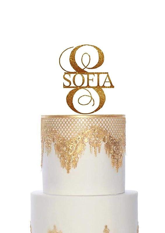 Monogram Cake Topper For Wedding Navy Letter Cake Topper Rose Gold Gold Acrylic Cake Topper Wooden Cake Topper Initial Single Letter