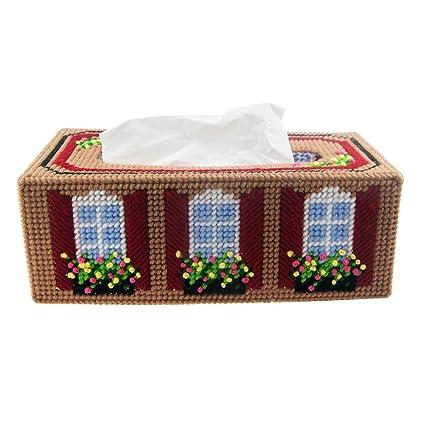 XIAOLVSHANGHANG HHBT DIY Caja Creativa Personalizada Europea Personalizada del Tejido de la casa de la Sala