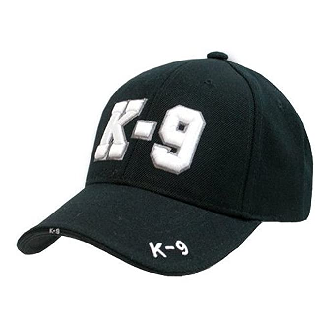Amazon.com  Rapid Dominance New Black Law Enforcement K9 Hat Cap ... d1971136c206