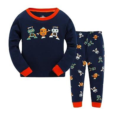 dfba195cb9 Tarkis Jungen Pyjamas, Kinder Pyjamas Sets Lange Ärmel Kinder Kleidung Set  Jungen Baumwolle Kleinkind Pjs