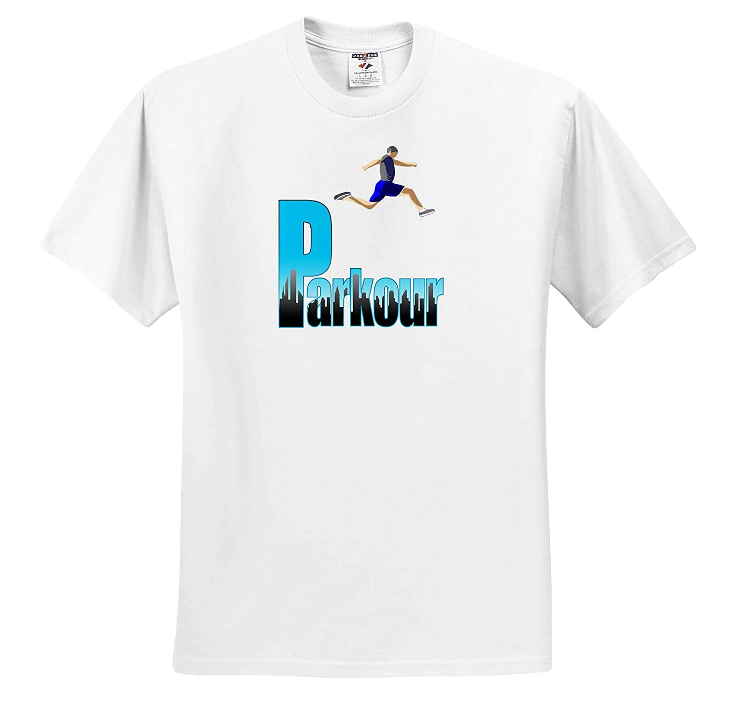 Show Support for The Extreme Sport of Parkour Freerunning - T-Shirts 3dRose Macdonald Creative Studios Parkour