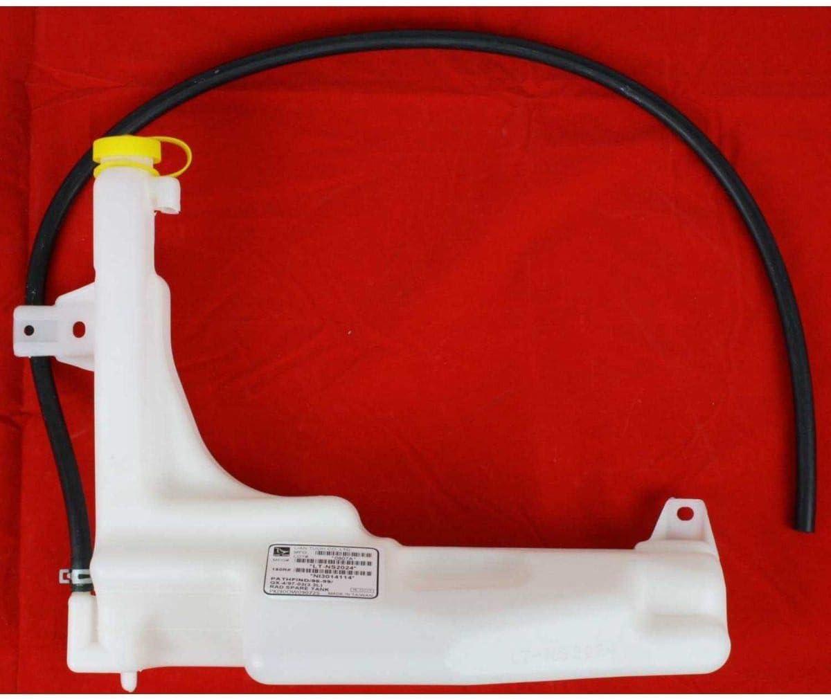 Coolant Reservoir For 96-99 Nissan Pathfinder 97-2000 Infiniti QX4 w//cap /& hose