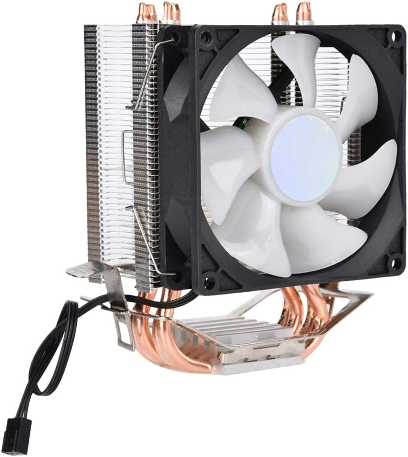 Bewinner 12v 3Pin CPU Cooling Fan Heat Pipe Adopta un Dise/ño Escalonado de Doble Hilera,Eficiente Ventilador de Enfriamiendo Silencioso 6 Pipe Heat Cooler Colorful Lights Cooling Fan para AMD
