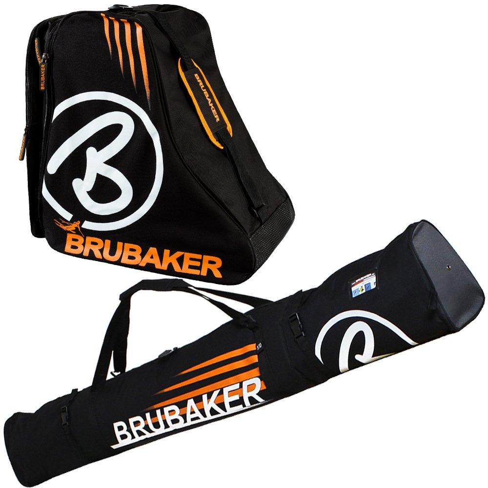 Brubaker Davos Kombi Set - Skisack und Skischuhtasche für 1 Paar Ski + Stöcke + Schuhe