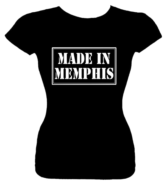 05396a56856 Amazon.com: Junior's Funny T-Shirt (MADE IN MEMPHIS) Fitted Girls ...