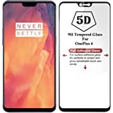 SPARKLING TRENDS 9H Full Screen 5D Tempered Glass with 0.33mm Pro+ Anti-Fingerprint and Oil Stain Coating for OnePlus 6 (Black)