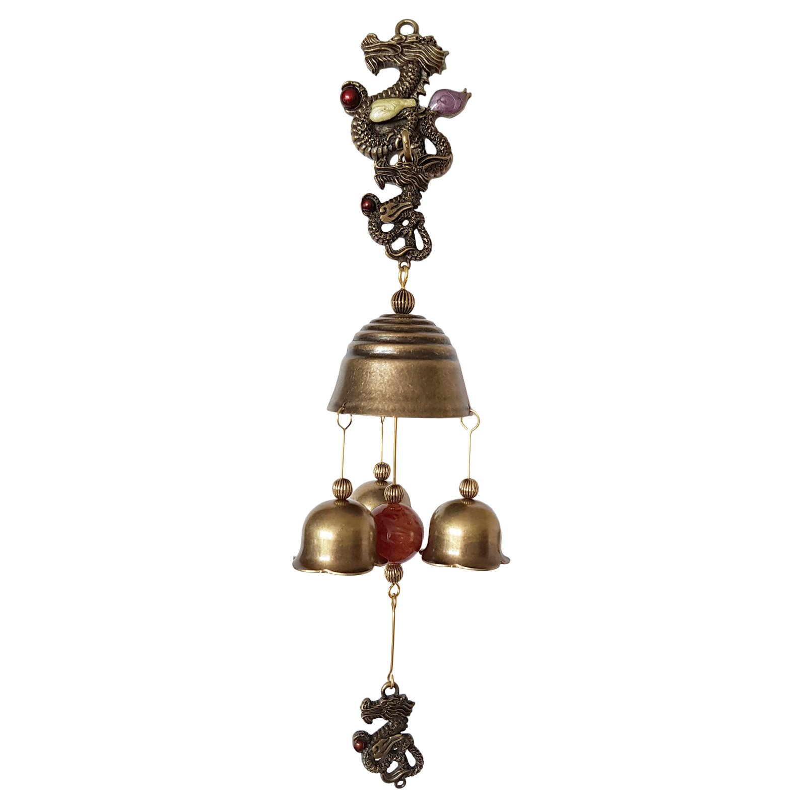 Vintage Dragon Shopkeepers Door Bell Store Entry Door Chime Home Decorative Bell (Triple bell)