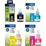 BROTHER Pack 4 Kit Botellas Tinta BT6001BK BT5001Y BT5001C BT5001M Originales - Negro Magenta Cian Amarrillo - Compatibles DC