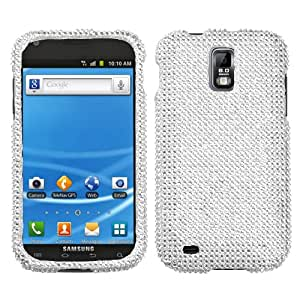 Asmyna SAMT989HPCDMS001NP Premium Dazzling Diamante Diamond Case for T-Mobile Samsung Galaxy S II/T989 - 1 Pack - Retail Packaging - Silver