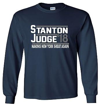 e9927dda7 The Silo Long Sleeve Navy Giancarlo Stanton Aaron Judge New York 18 quot  T- Shirt