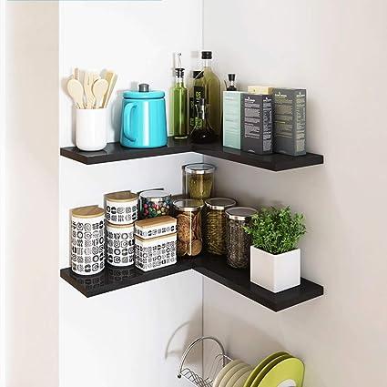 Amazon.com: ZXUE Corner Racks Living Room Decoration Rack Wall Racks ...