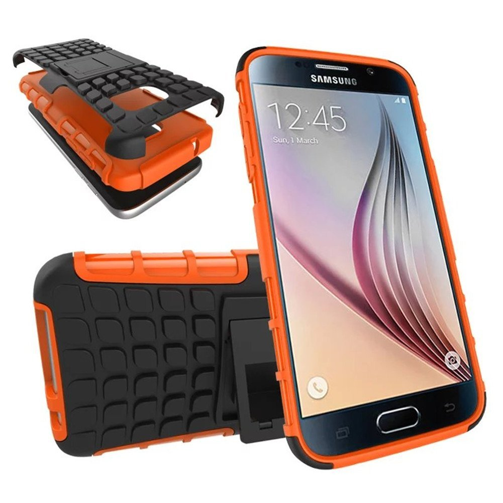 Urvoix For Galaxy S7, Hybrid Heavy Duty Dual Layer Shock Proof Rugged Shell Grenade Grip Tyre Textured Kickstand Case Cover for Samsung Galaxy S7 G930(NOT S7Edge)