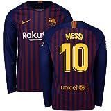 272ba80495f 2018-2019 Barcelona Home Nike Long Sleeve Football Soccer T-Shirt Jersey  (Lionel