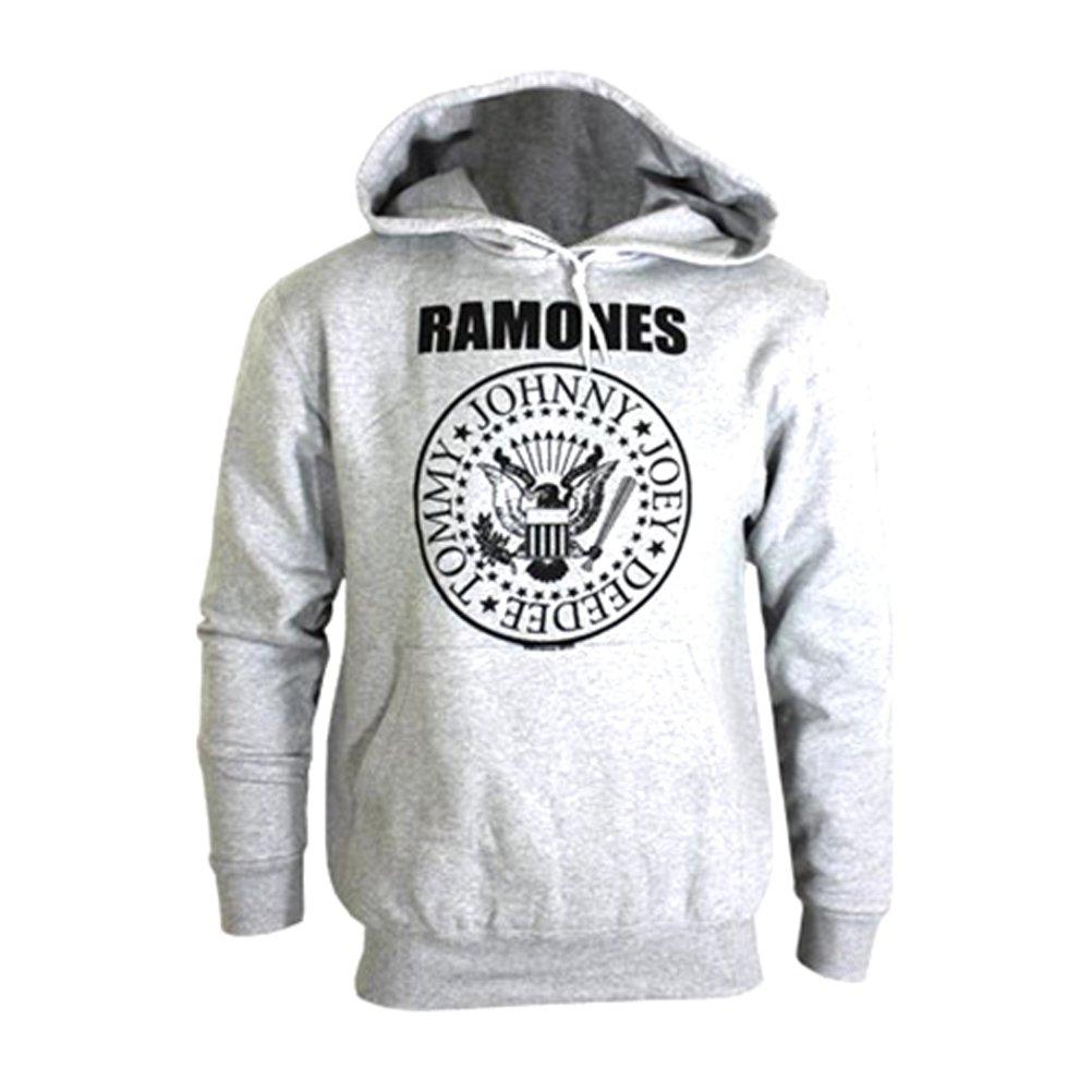 Official Ramones Presidential Seal Pullover Grey Hoodie Sweater