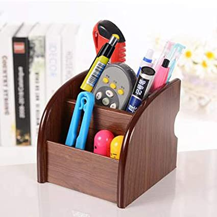 Provided Multifunctional Office Desktop Decor Storage Box Leather Stationery Organizer Pen Pencils Remote Control Mobile Phone Holder Ideal Gift For All Occasions Desk Accessories & Organizer