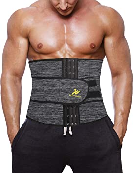 NINGMI Chaleco Sauna Hombre Entrenador Cintura de Neopreno Quema Grasas Fajas Reductoras Adelgazantes P/érdida de Peso Efecto Camiseta para Correr