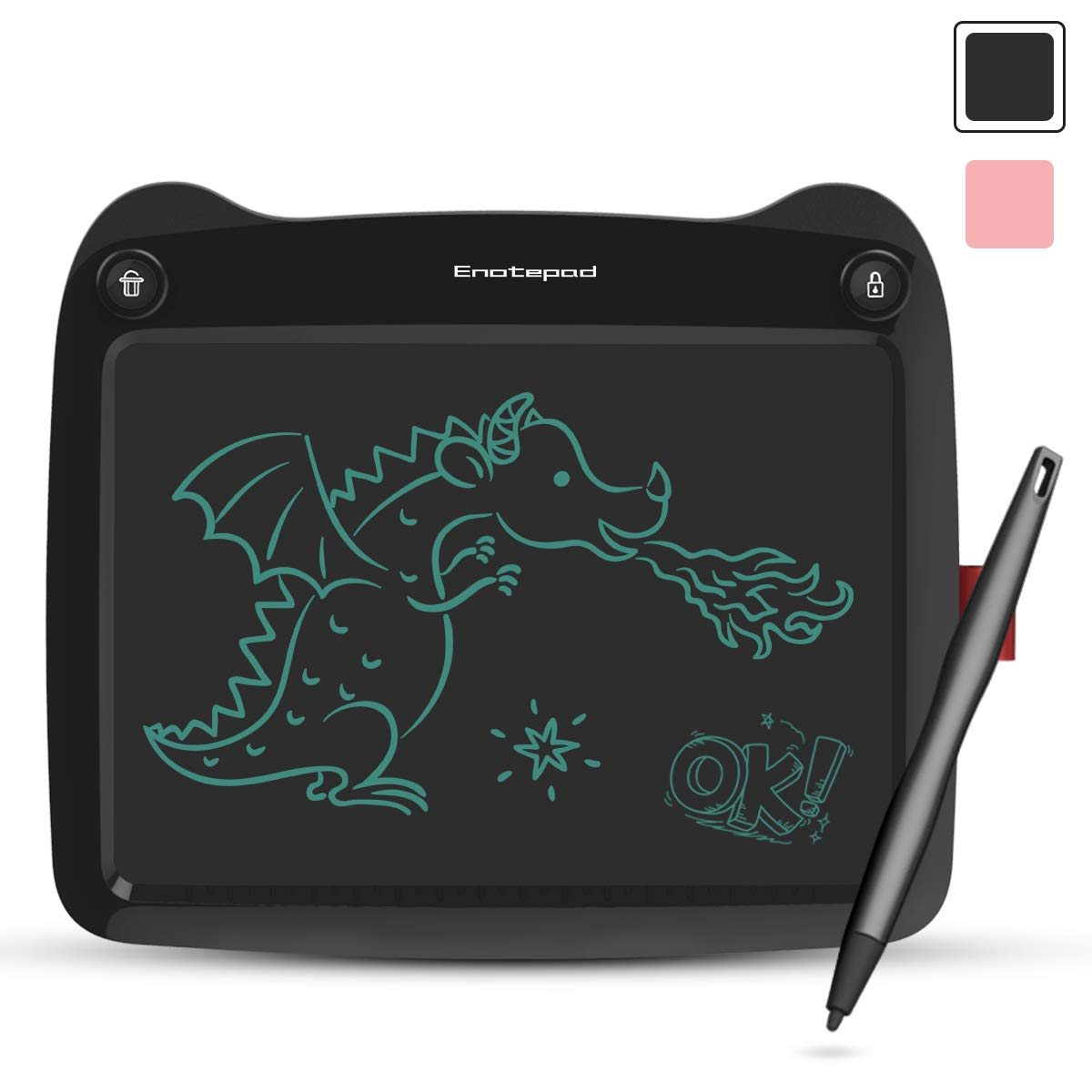 Gran Regalo Negro Tablero Escritura Dibujo Pintura Enotepad Tableta Escritura LCD 9 Pulgadas Tableros Doodle para Ni/ños Adultos