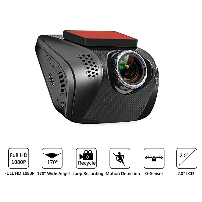 Amazon.com: DealMux Invisível design 2,0 polegadas HD 1280P 170 graus Car Painel Camcorder traço Camera Recorder Digital w G-Sensor de Loop Recording Night ...