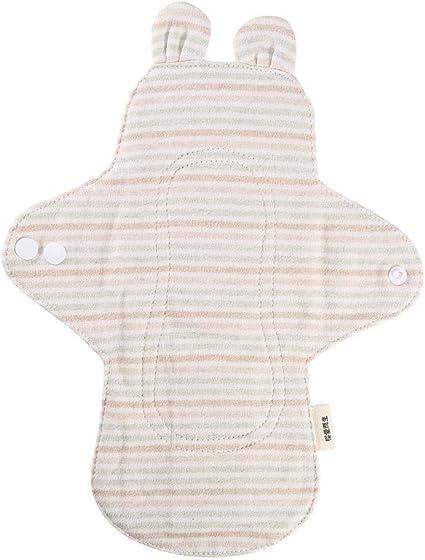 Almohadillas menstruales para algodón orgánico, almohadillas menstruales de tela suave y cómoda, forros de protección de bragas largas durante la noche(# 2): Amazon.es: Belleza